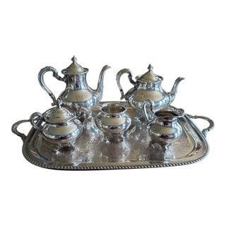 Vintage Silver Plated Coffee and Tea Service - 7 Piece Set For Sale