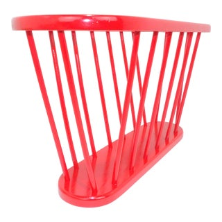 Red Vinyl Record Holder - Magazine Rack For Sale