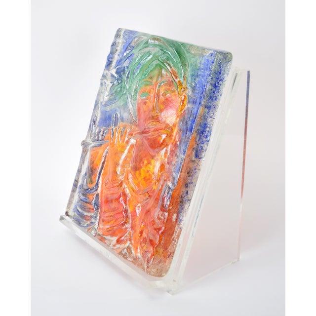 "1970s 1970s Vintage ""The Flutist"" Reuven Rubin & Egidio Constantini Art Glass Sculpture For Sale - Image 5 of 10"