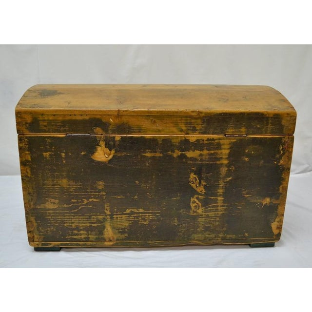 Pine Painted Dome-Top Trunk For Sale - Image 10 of 10