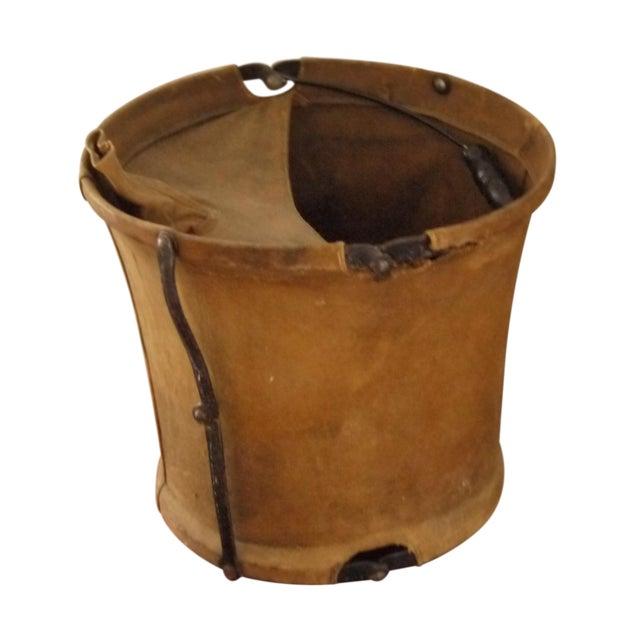 Vintage Canvas Army Bucket - Image 1 of 5