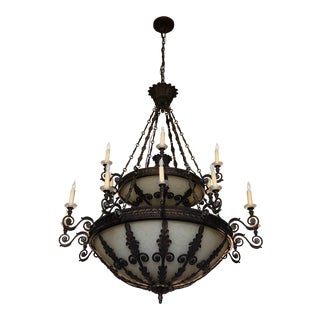 Traditional Entry-Way Bronze Chandelier