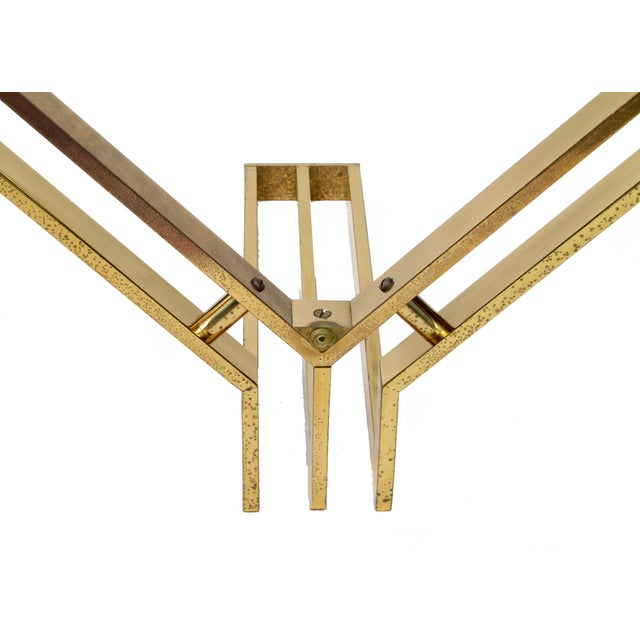 Gold Italian Mid-Century Modern Brass Coffee Table For Sale - Image 8 of 10