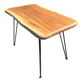 Organic Modern Slab Top Table or Writing Desk For Sale