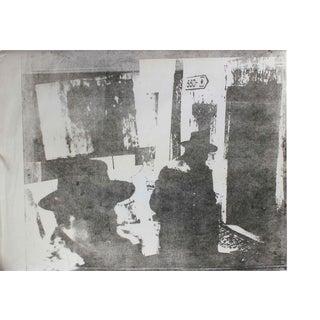 Barbara Lewis Men With Hats in Cityscape, Photo Emulsion Print, Circa 1970s Circa 1970s For Sale