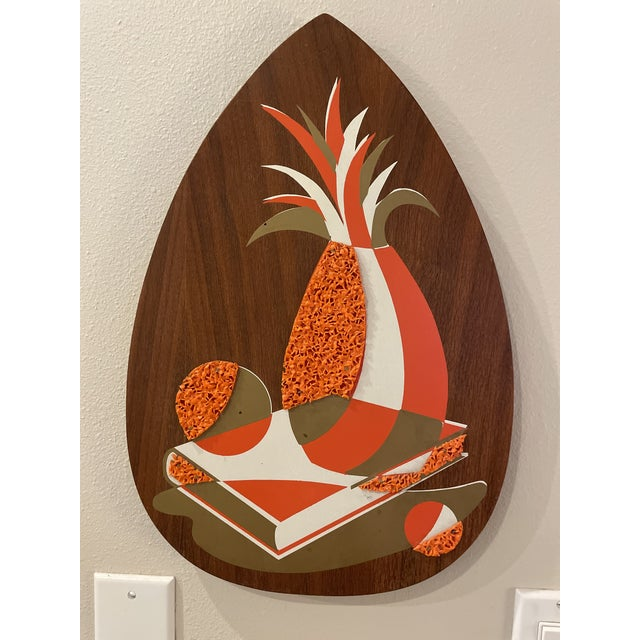 Set of 3 wall hanging walnut still lifes, made by Illinois Moulding Company in the Mid 60s. They are in good shape with...