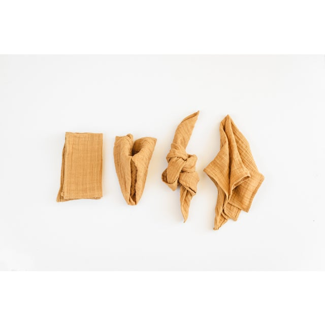Oro Organic Cotton Napkins - Set of 6 For Sale - Image 4 of 5