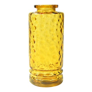 1970s Honey Glass Vase, Hirschberg, Germany For Sale