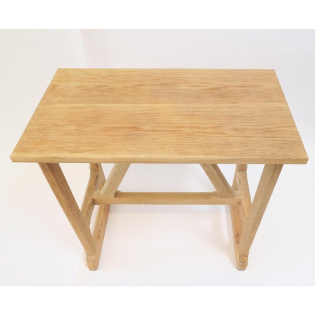 Martin & Brockett Short Trestle Wood Table - Image 3 of 7