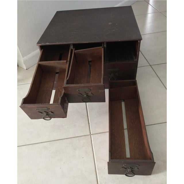 Antique 18th Chippendale Card Filing Library Cabinet For Sale In Miami - Image 6 of 13