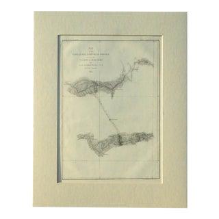 Santiago, Chili Uspullata & Portillo Passes, 1855 Map For Sale