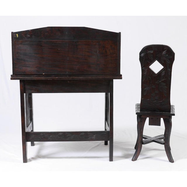 Oriental Writing Desk & Chair - Image 3 of 6