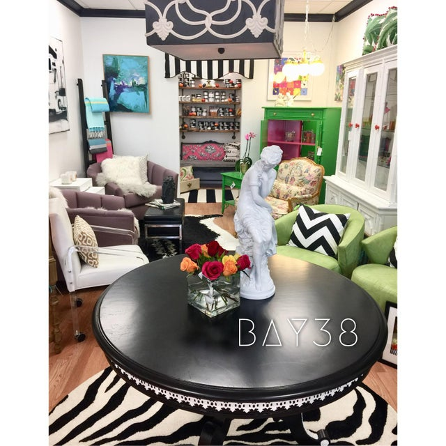 """1960s Vintage """"Tuxedo"""" Table For Sale In Miami - Image 6 of 11"""