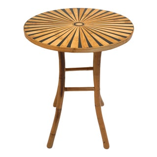 Bamboo Sunburst Accent Table