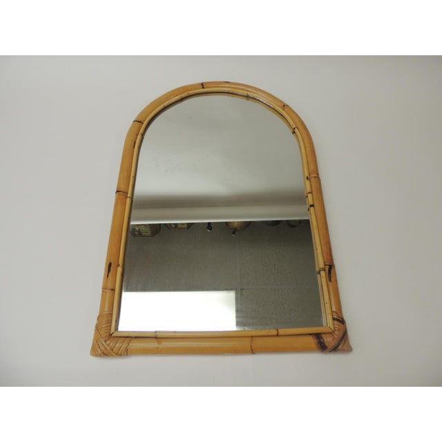 Vintage Rectangular Bamboo Mirror For Sale In Miami - Image 6 of 6
