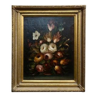 Campanini -Floral Still Life -19th Century Italian School -Oil Panting