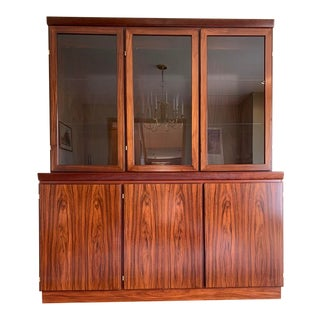 Danish Modern Rosewood China Cabinet For Sale