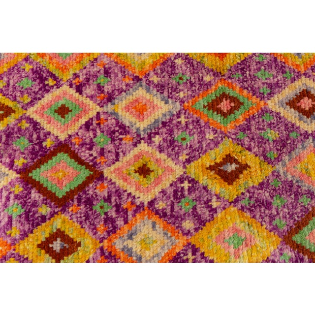 "2010s Modern Gabbeh Rug, 2'9"" X 9'3"" For Sale - Image 5 of 10"