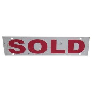 """Vintage Industrial """"Sold"""" Sign"""
