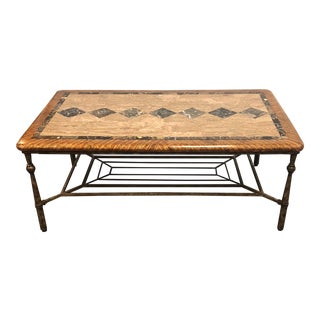 Hooker Furniture Stone Top Coffee Table For Sale