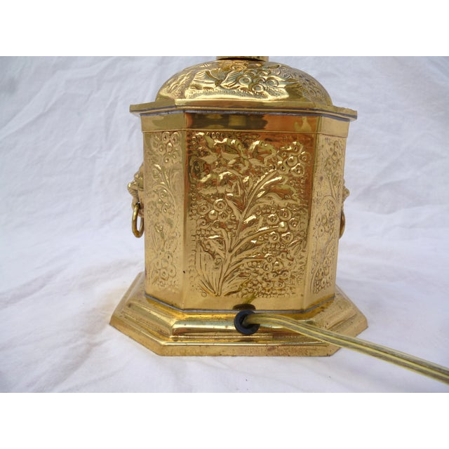 Golden Oriental Style Brass Lamp - Image 3 of 7