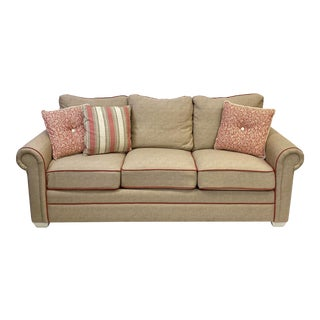 Vintage Braxton Culler Three Cushion Kensington Sofa For Sale
