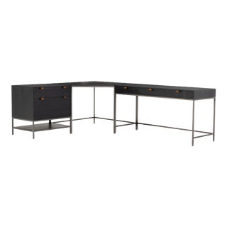 Erdos + Ko Theo Desk System With Filing Cabinet- Black For Sale