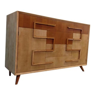 Mid-Century Wood Cabinet Dresser For Sale