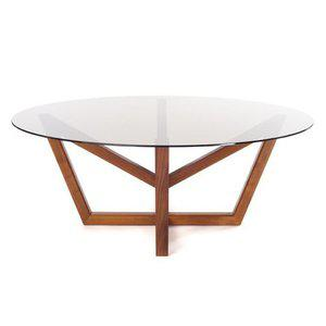 Holly Hunt Holly Hunt Modern Obelisk Walnut Dining Table For Sale - Image 4 of 4