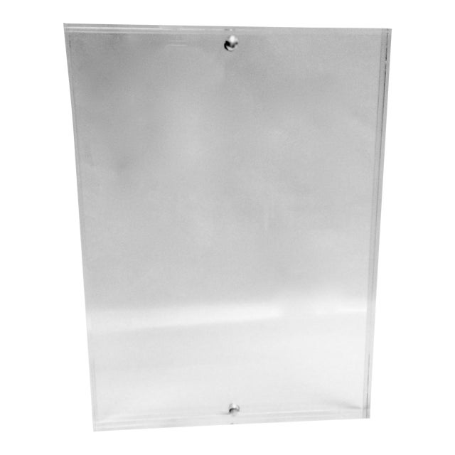 Free Standing Clear Lucite Photo Frame - Image 1 of 5