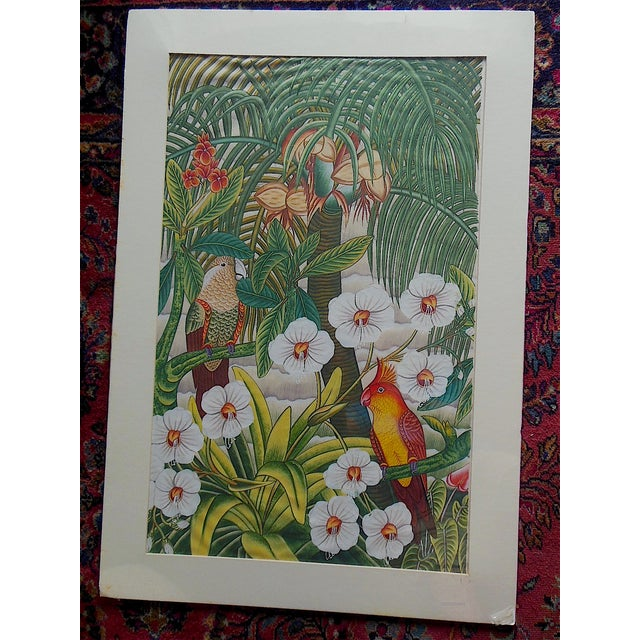 Large Vintage Signed Asian Painting-Tropical Scene - Image 2 of 8