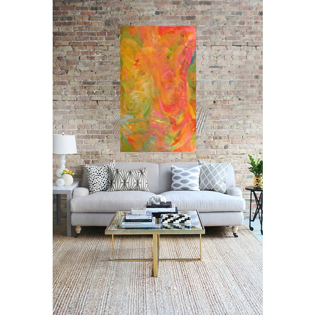 """Trixie Pitts Abstract Painting """"Bold Torso"""" - Image 2 of 2"""