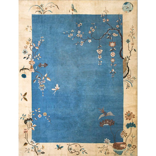 """1920s Chinese Art Deco Rug- 9'0"""" X 11'10"""" For Sale"""