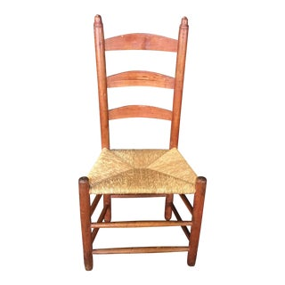 1900 Country French Ladderback Chair From Provence For Sale