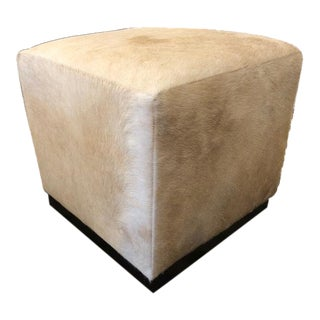 William Sonoma Robertson Cowhide Cube