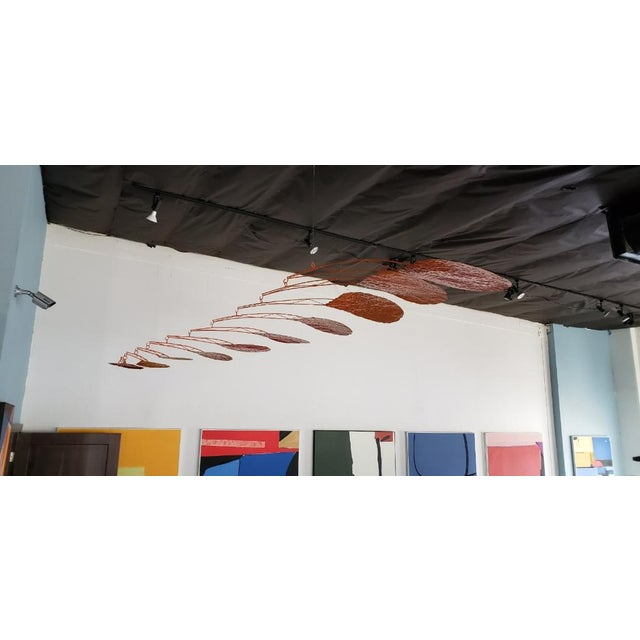 """Abstract Calder-Esque """"Petal"""" Mobile by Artist Scott Donadio For Sale - Image 3 of 6"""