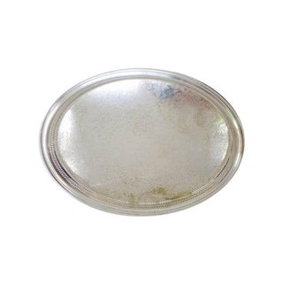 Wm Rogers Large Oval Silver Plated Tray