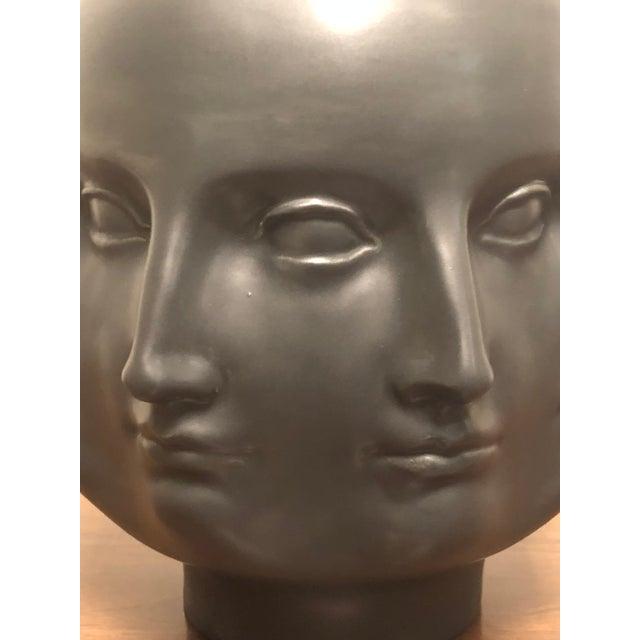 Ceramic Hollywood Regency Dora Maar Style Perpetual Face Vase For Sale - Image 7 of 8