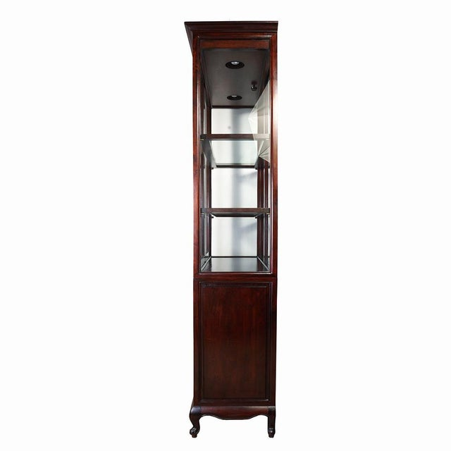 Rosewood Antique Chinese Carved Rosewood Display/Curio Cabinet For Sale - Image 7 of 9