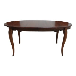 1990s Ethan Allen French Country Legacy Dining Room Banquet Conference Table For Sale