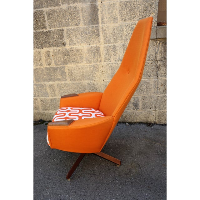 Orange Adrian Pearsall Swivel Chair & Ottoman For Sale - Image 8 of 10