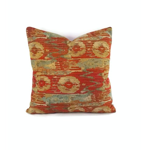 Pindler Palette Persimmon Chenille Pillow Cover For Sale In Portland, OR - Image 6 of 6