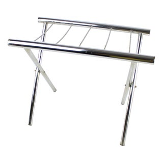 Vintage Chrome Luggage Rack