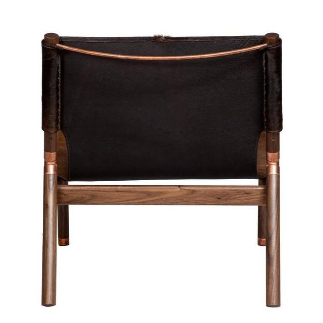 Customizable Erickson Aesthetics Slung Brindle Walnut Lounge Chair For Sale In New York - Image 6 of 7