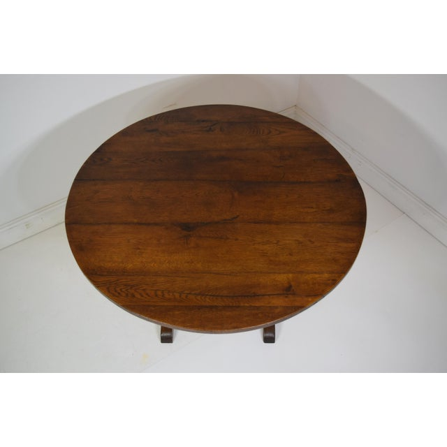 French 19th-Century French Oak Wine Tasting Table For Sale - Image 3 of 8