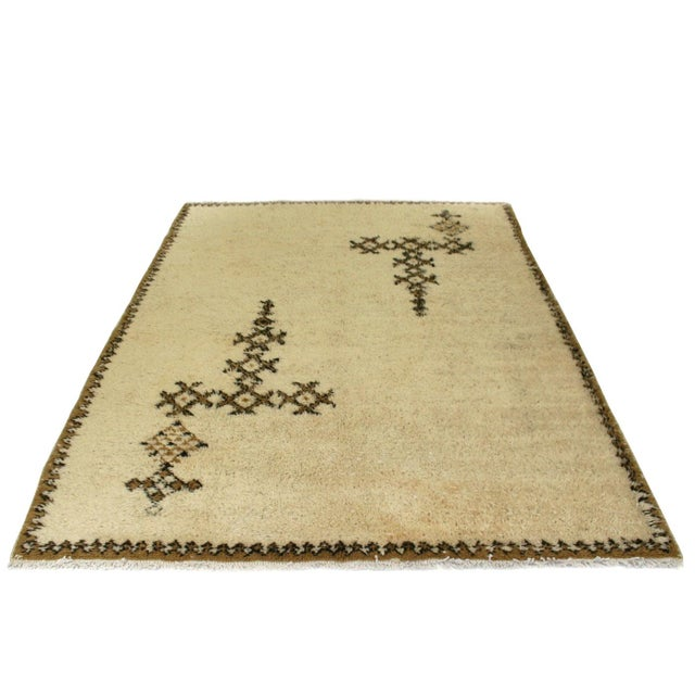"Moroccan Beni Ourain Carpet - 5'5"" X 7'3"" - Image 2 of 5"
