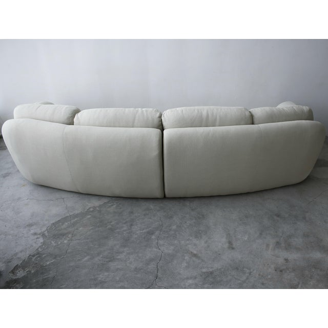 2 Piece Curved Post Modern Sofa by Preview Furniture For Sale In Las Vegas - Image 6 of 9