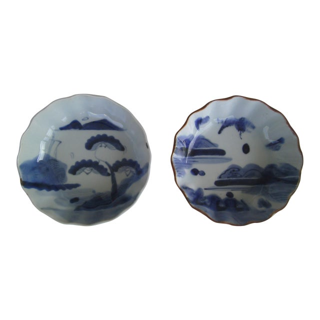 Oriental Blue & White Bowls - A Pair - Image 1 of 8