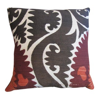 Vintage Suzani Hand Embroidered Pillow