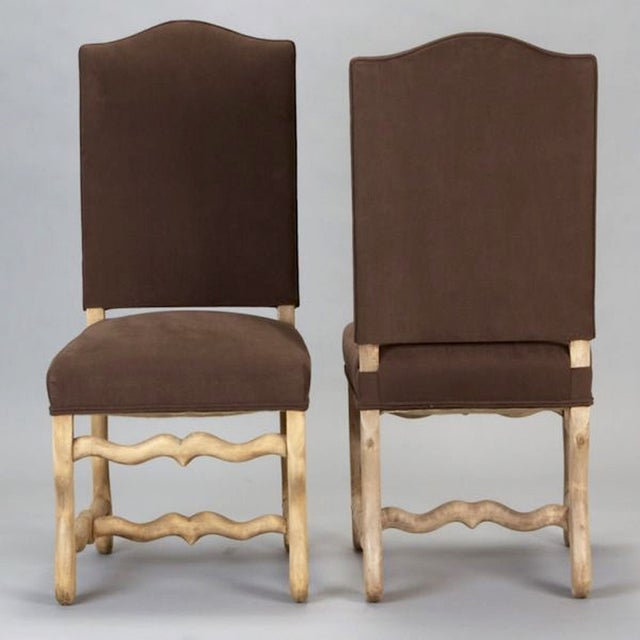 French Os Du Mouton Dining Chairs - Set of 6 - Image 4 of 8